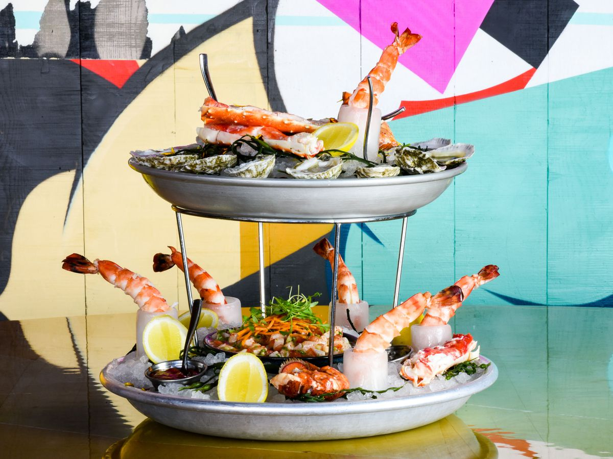 Seafood tower at Greene St. Kitchen