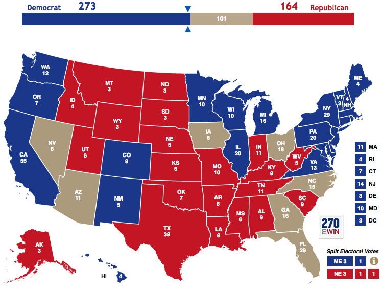 trump polls by state map Right Now Polls Show Donald Trump Losing Every Single Swing State