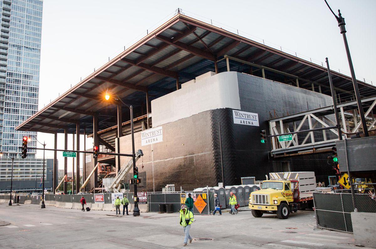 Wintrust Arena, shown under construction near McCormick Place last year.   Santiago Covarrubias/Sun-Times