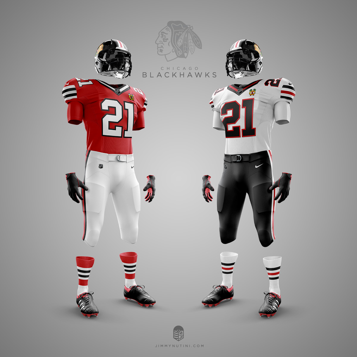 This Blackhawks NFL jersey design kinda makes me wish they played football 26598f291