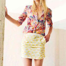 alentine Gauthier Embroidered Birdy Skirt, $165