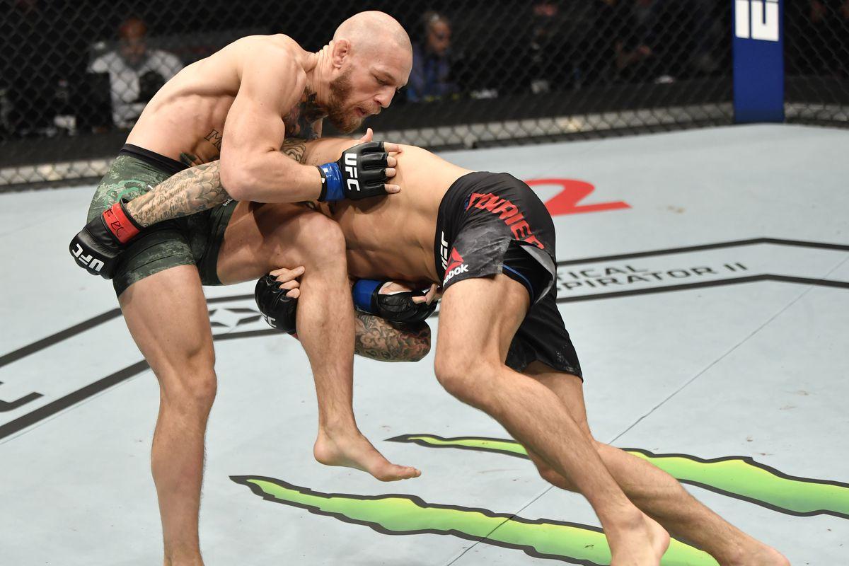 Dustin Poirier takes down Conor McGregor