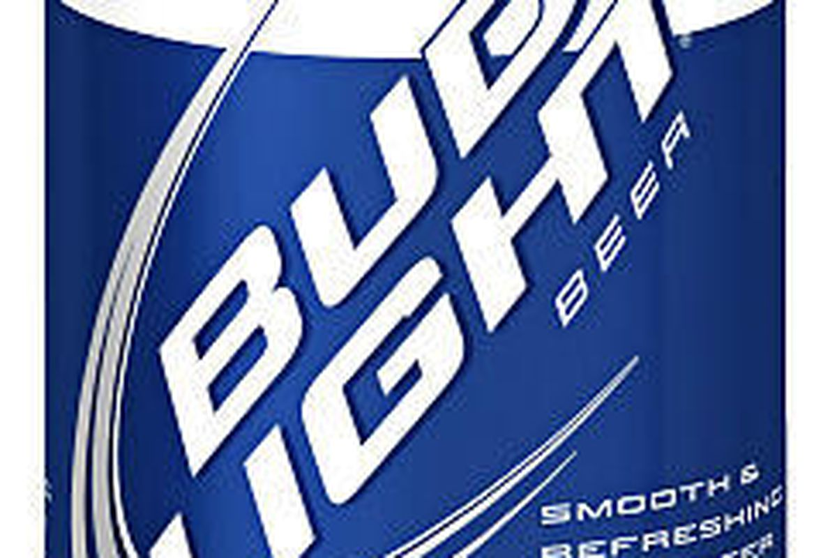 """One of 27 designs for the Anheuser-Busch's promotional  """"Fan Cans"""" is shown. The company is dropping the promotion from communities around the country where colleges have complained that the effort — which sells cans of Bud Light in school colors — promot"""