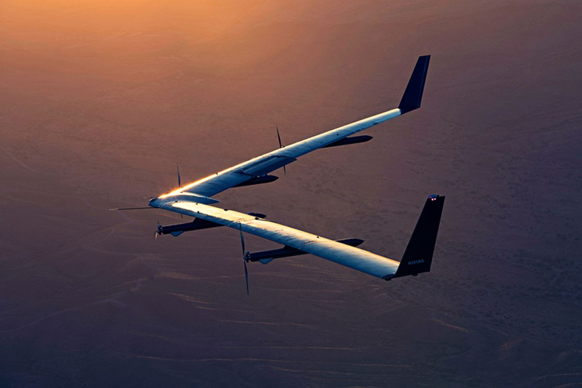 Facebook's giant Aquila drone soars for nearly 2 hours and lands safely
