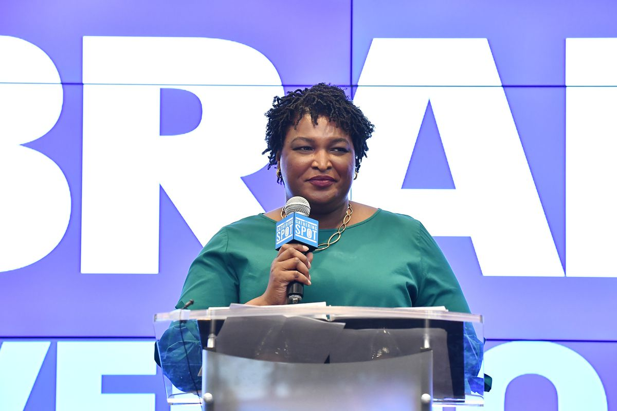 Stacey Abrams has defended her involvement in a 1992 protest where a Georgia state flag was burned.