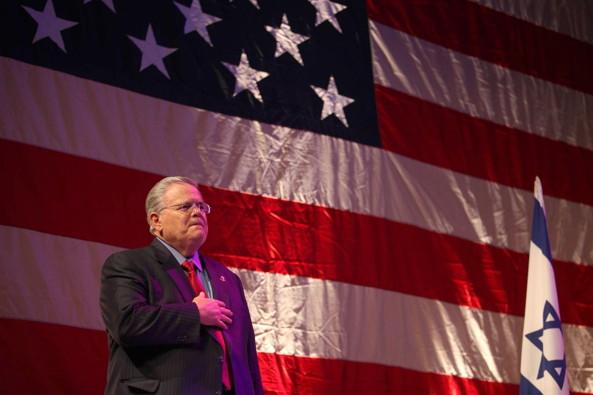 John Hagee, the founder and chairman of Christians United for Israel.