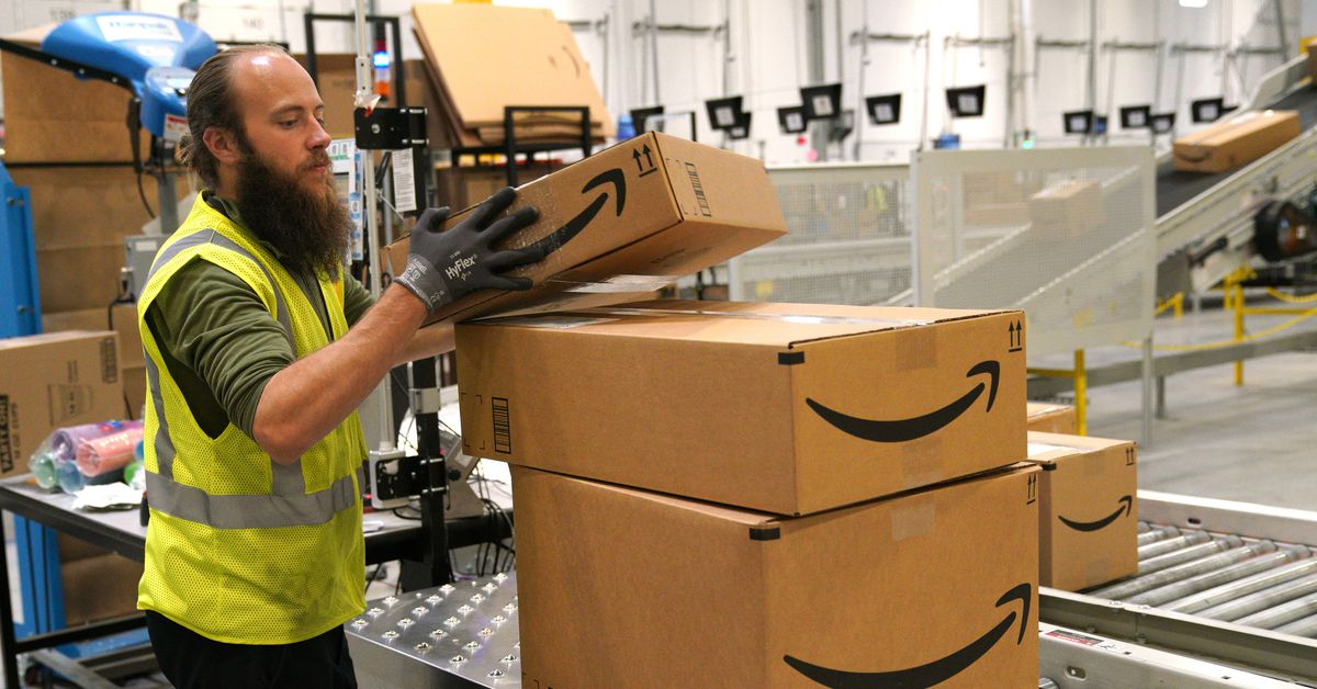 Inside an Amazon warehouse on Black Friday