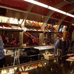 The bar at Gordon Ramsay Steak.