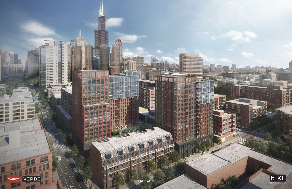 west loop hotel apartments and library pass the chicago plan commission curbed chicago. Black Bedroom Furniture Sets. Home Design Ideas