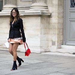 Blogger Aimee Song outside of the Dior show.