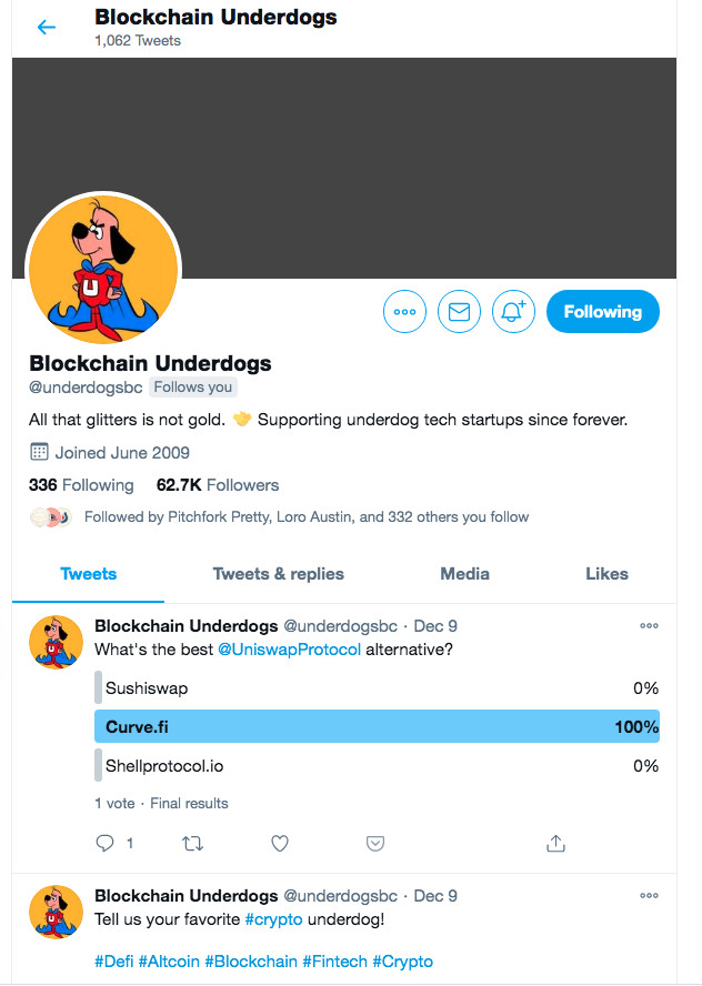 Blockchain's takeover of the Franklin Barbecue Twitter account