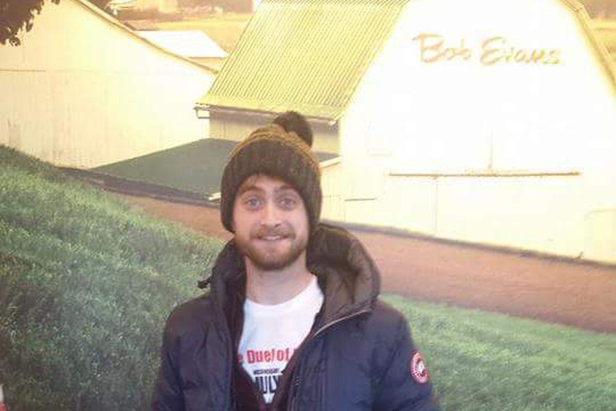 Daniel Radcliffe at a Bob Evans in Grand Blanc.