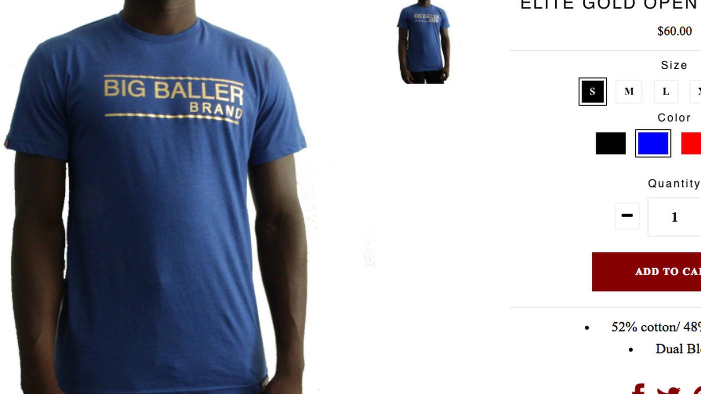 Saints Gold White Classic Tee BBB Big Baller Brand LOS ANGELES T SHIRT LONZO