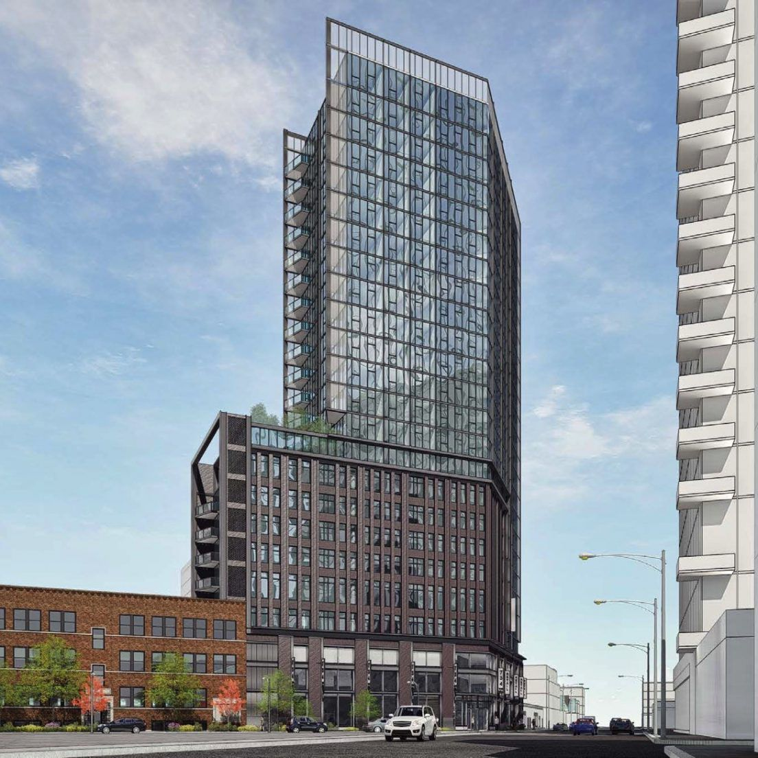 River West Makes Room For 23-story Apartment Tower