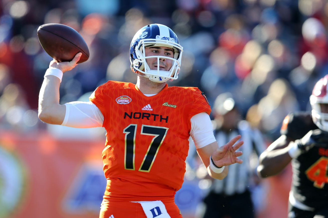 usa today 12061868.0 - The Senior Bowl is fake football and should not be the reason to draft Daniel Jones