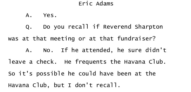 From a May 13, 2010, interview of then-state Sen. Eric Adams by the state Inspector General's Office.