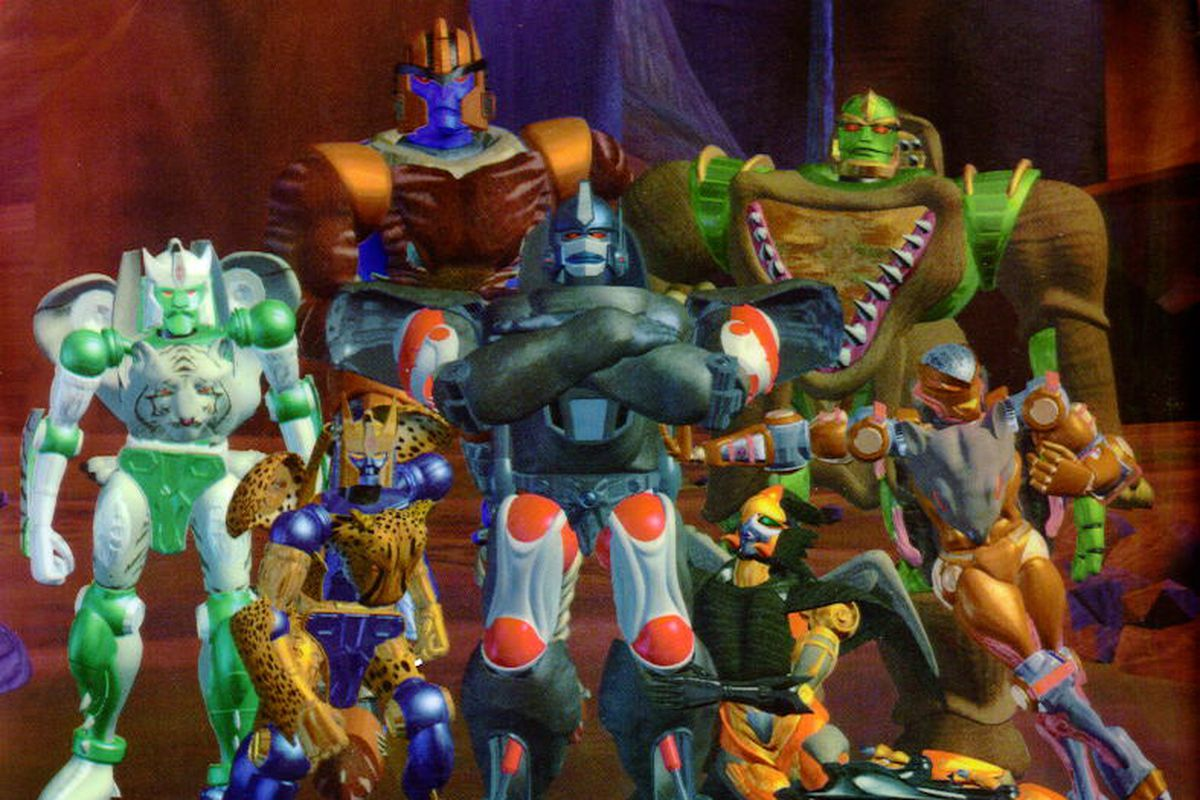 A group shot of the Maximals from the Beast Wars animated series.