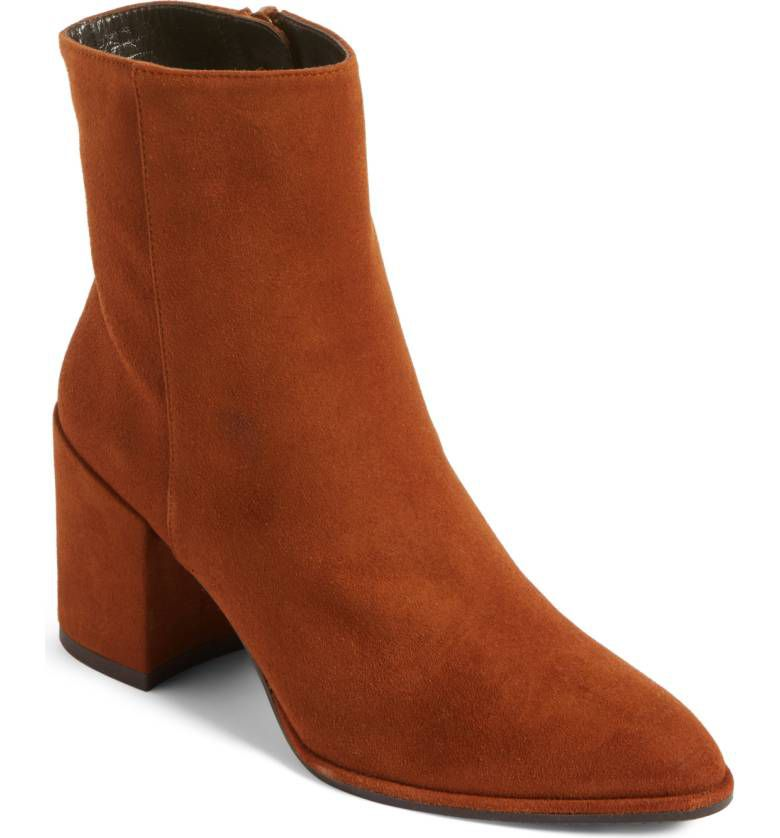 Stuart Weitzman rust ankle boots