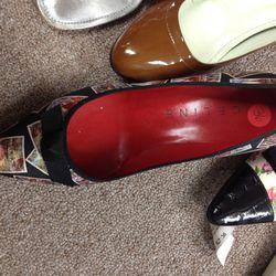 Celine kitten heels, $33