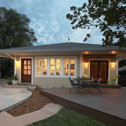 After: The original portions of this craftsman-style home were beautiful, but the owners were excited to replace a previously and poorly built rear addition with something more consistent with the home's original style and character.