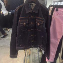 men's denim jacket, $60