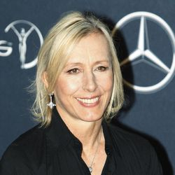 FILE - In this Feb. 6, 2012 file photo, former tennis player Martina Navratilova, arrives for the Laureus World Sports Awards in London. Navratilova is among several celebrities headed to New Orleans this week to celebrate and promote life after 50. More than a dozen celebrities are hosting talks and activities for aging Americans at the national conference of the AARP, which runs Thursday through Saturday at the Ernest N. Morial Convention Center and is expected to attract some 20,000 attendees.