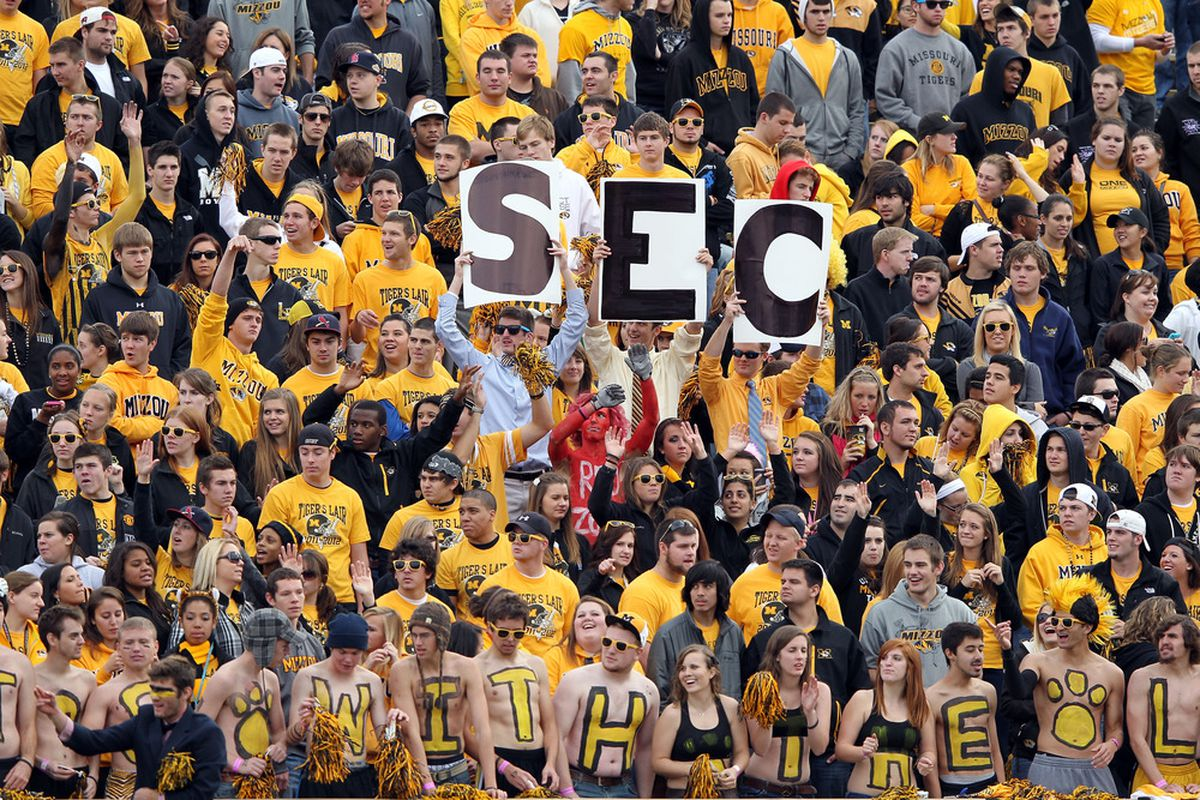 Missouri's in the SEC now. Will you go to Faurot Field? (Photo by Jamie Squire/Getty Images)