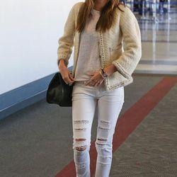 Model (and newly single) Miranda Kerr at LAX.