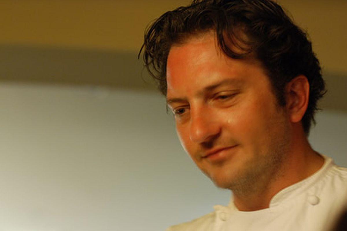 Bryan Sikora is leaving a. kitchen.