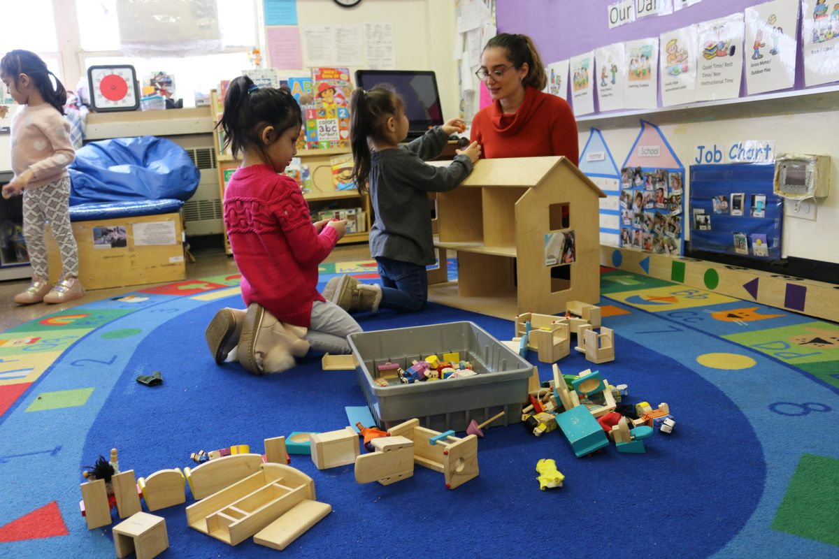 Classroom 12 at HeartShare Taranto in Brooklyn relies on a rotating mix of substitute teachers and other staffers ever since the special education teacher left for a higher-paying job at the education department.