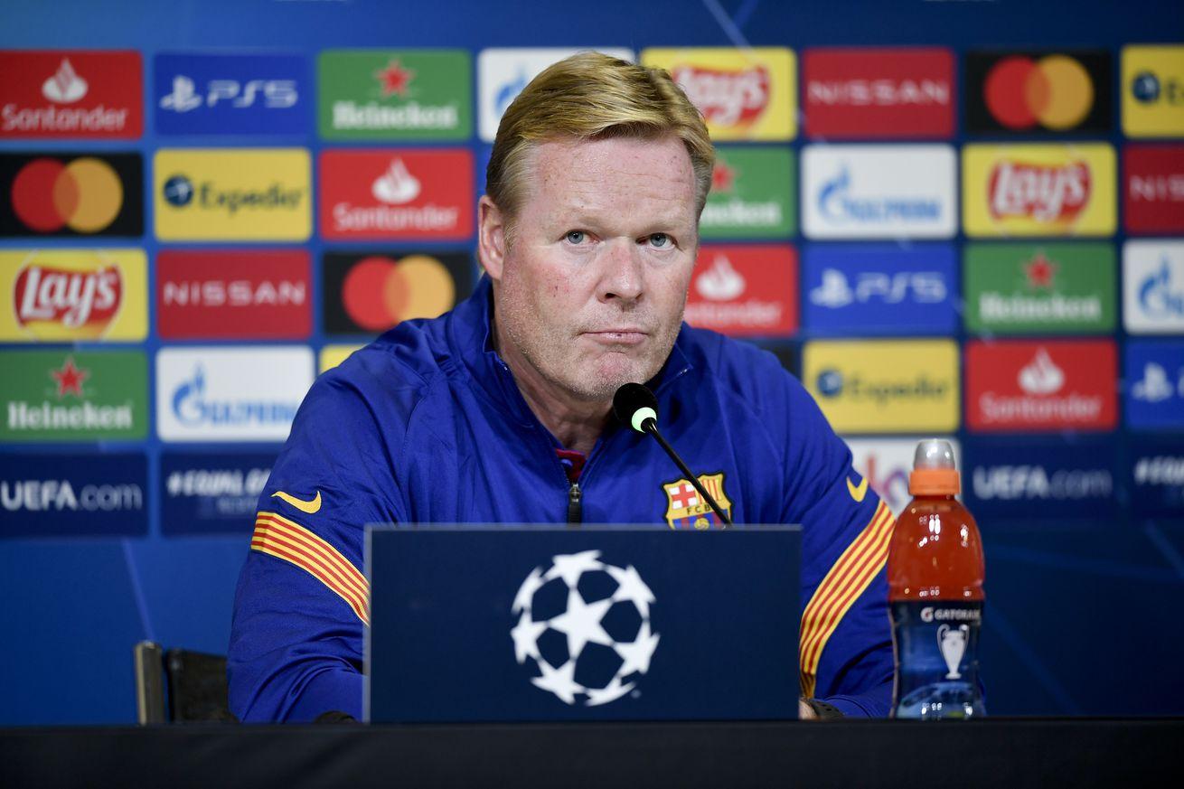 Koeman talks Messi, De Jong & Pique ahead of Dynamo Kiev