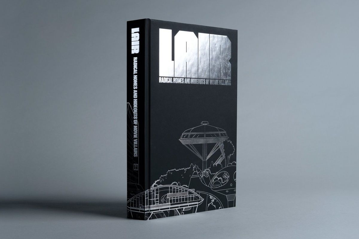 Cover of black book with silver type
