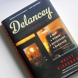 <em>Delancey: A Man, a Woman, a Restaurant, a Marriage - a Memoir</em> by Molly Wizenberg. The title pretty much says it all: Wizenberg, the author of the popular Orangette blog, and her husband opened a Seattle restaurant, and this is the story of their