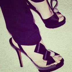 """Love these Nicholas Kirkwood heels I wore to the Help Haiti Home gala."""