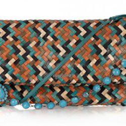 Miu Miu, Woven Leather Shoulder Bag, $1495