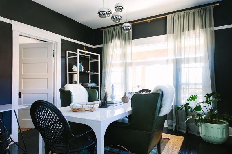 an off black dining room - Black Dining Room