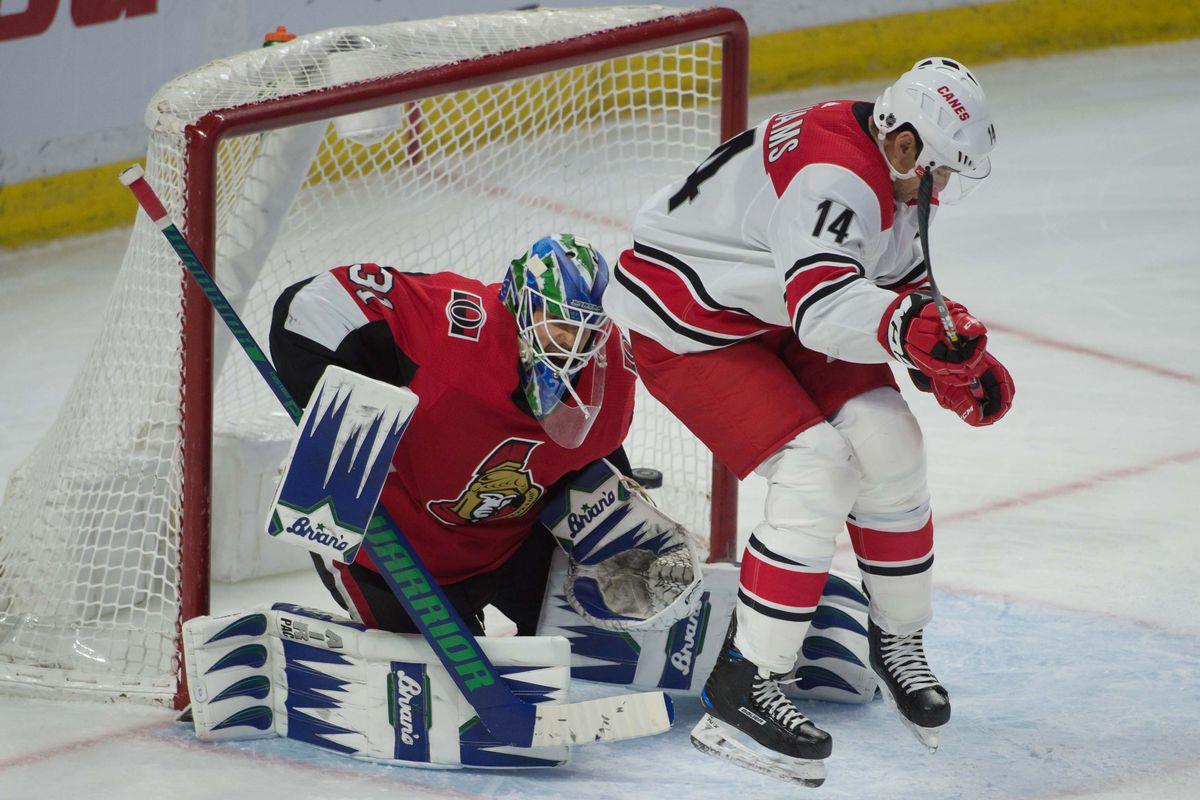 NHL: Carolina Hurricanes at Ottawa Senators