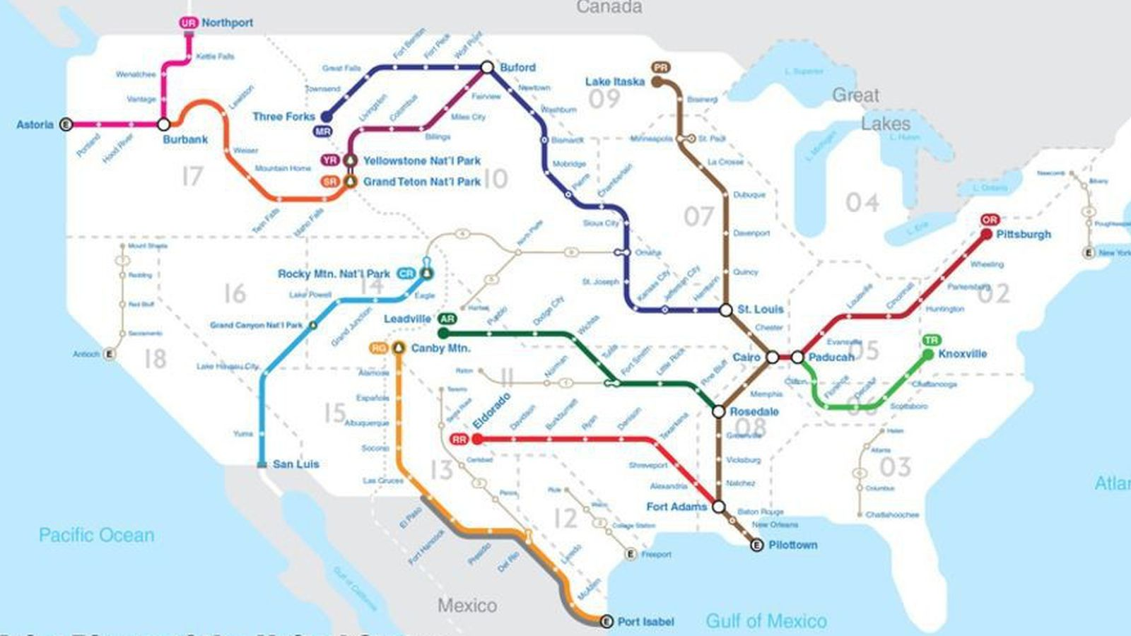 Mapping US Rivers Like A National Subway System Curbed - Map of us rivers
