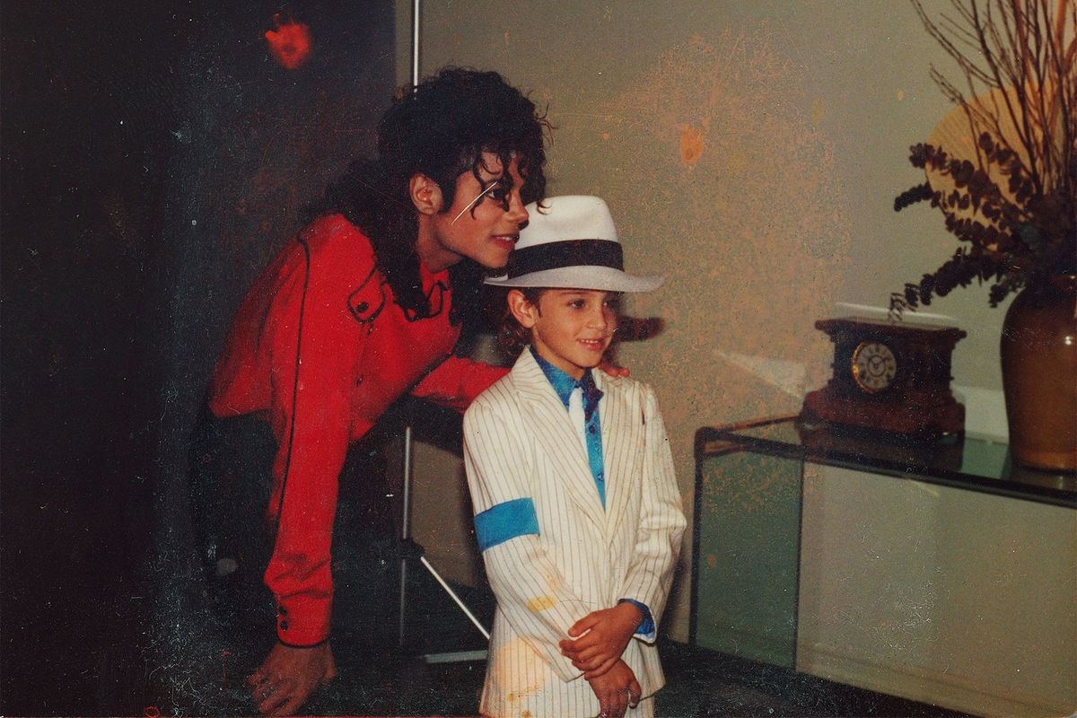 Jackson and Robson in a picture of Leaving Neverland.