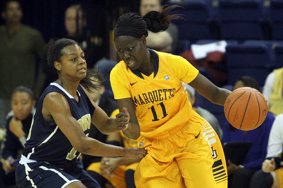 Marquette needs someone to step up to help Plouffe and Young, and co-captain Apiew Ojulu is a likely candidate.