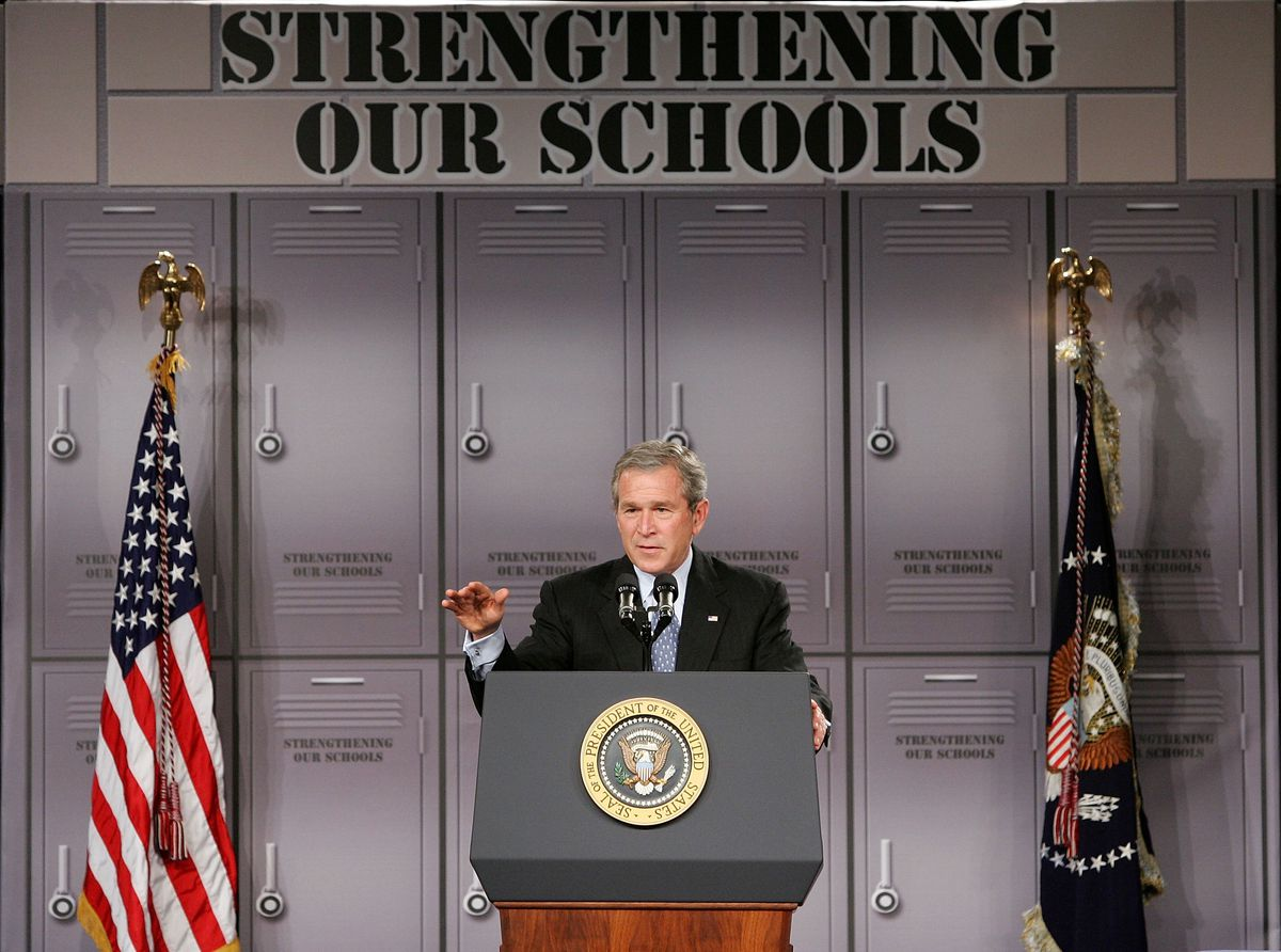 President Bush Makes Remarks On High School Initiatives