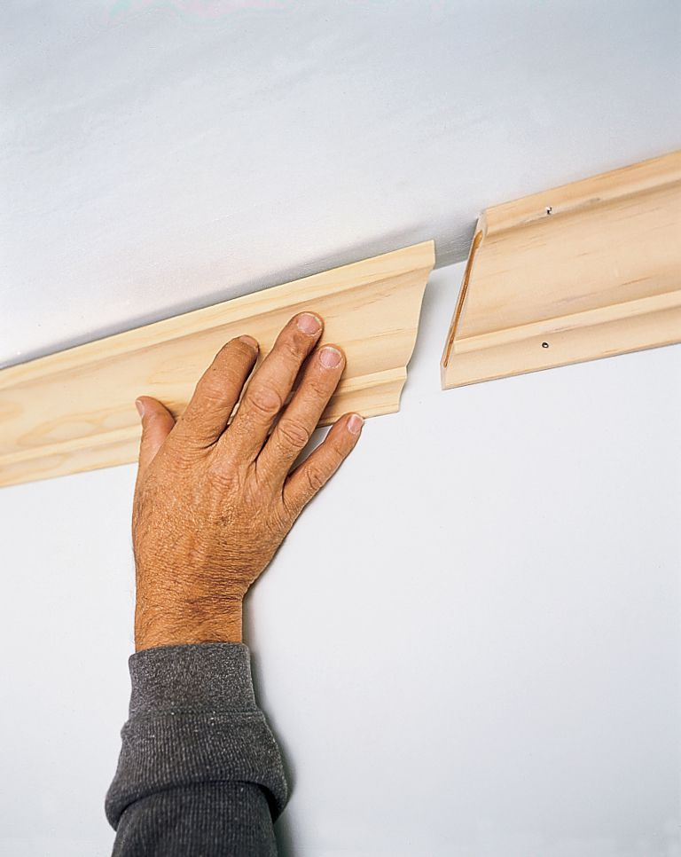 Installing the adjoining piece of crown molding