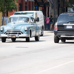 """A vehicle used on the set of Jordan Peele's new HBO series """"Lovecraft Country"""" in Pilsen on July 23, 2018. 