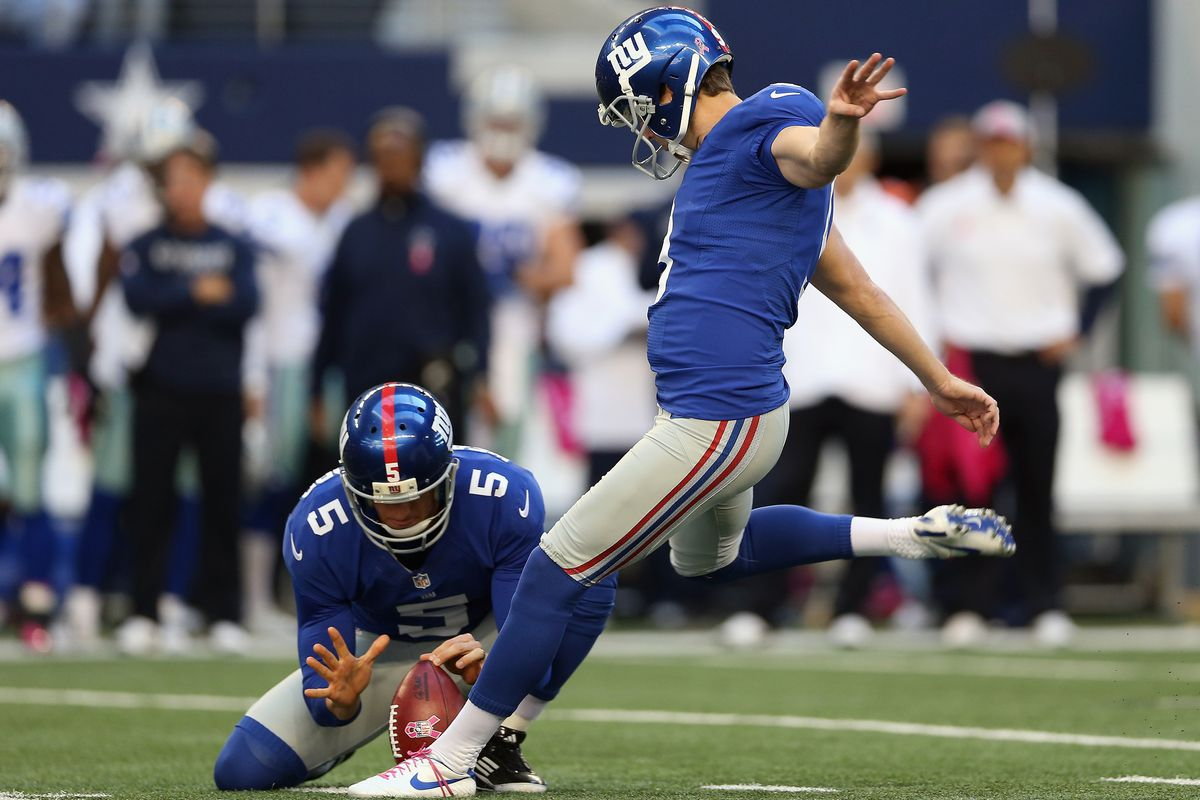 Lawrence Tynes was the offensive star of the game for the Giants on Sunday, going 5-for-5.