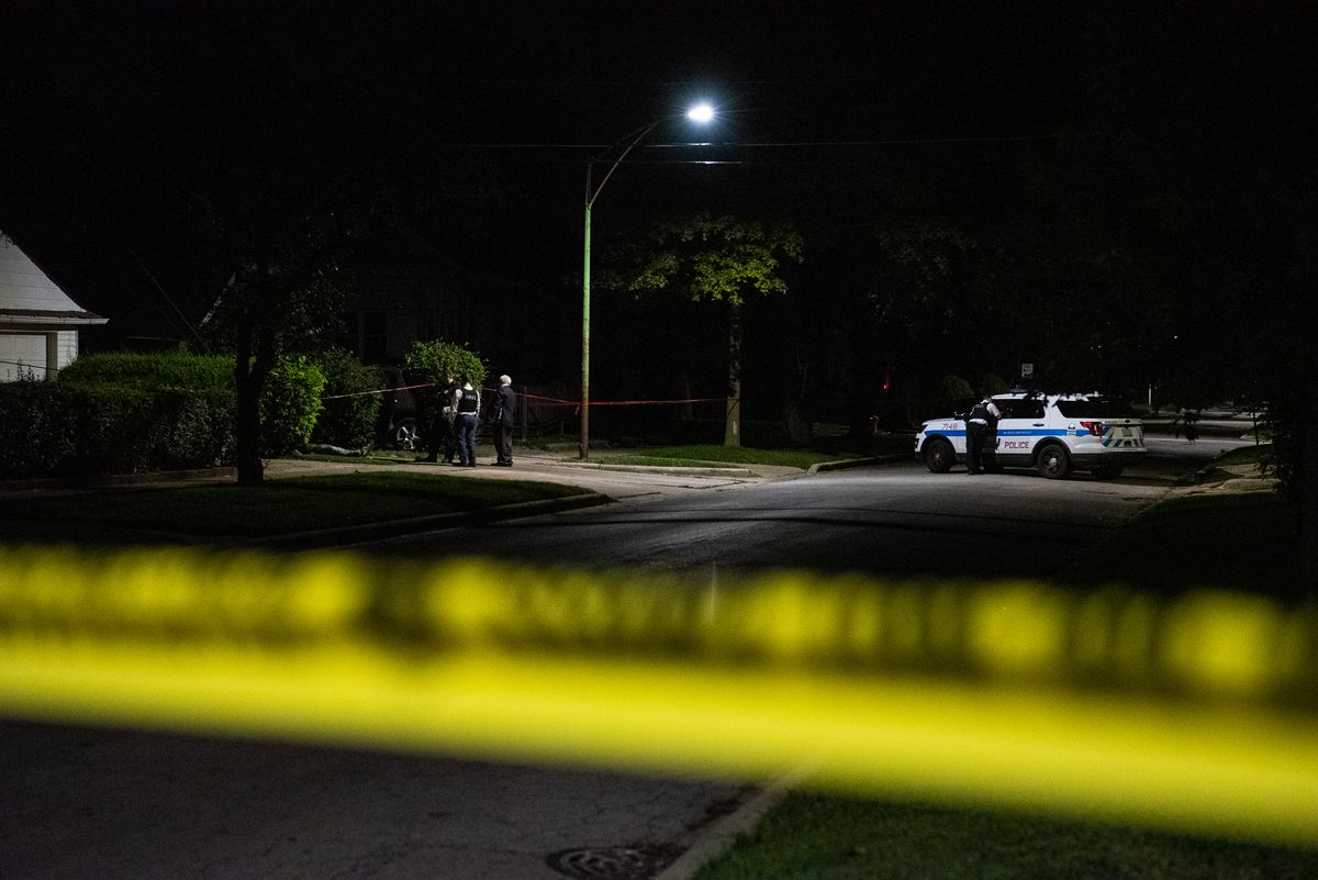 Chicago police investigate a fatal shooting in 2019 in the 11400 block of South Parnell in the Roseland neighborhood.