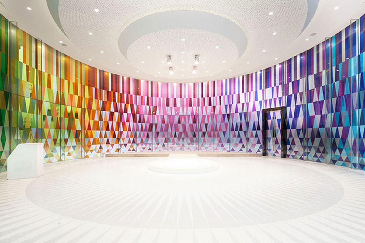 "All photos courtesy of Coordination Asia via <a href=""http://www.designboom.com/architecture/coordination-asia-rainbow-chapel-shanghai-06-10-2015/"">Designboom</a>"