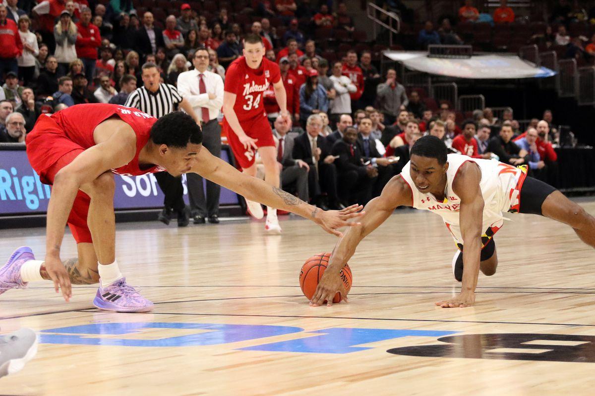 Big Ten Tournament Maryland basketball Serrel Smith Jr. vs Nebraska