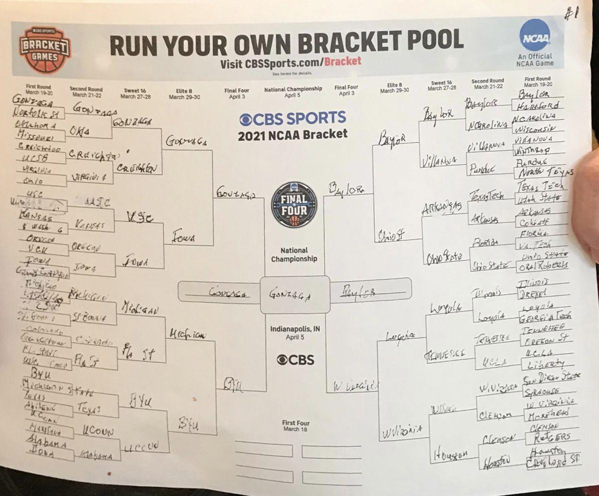 Sister Jean's 2021 NCAA Men's Tournament bracket.