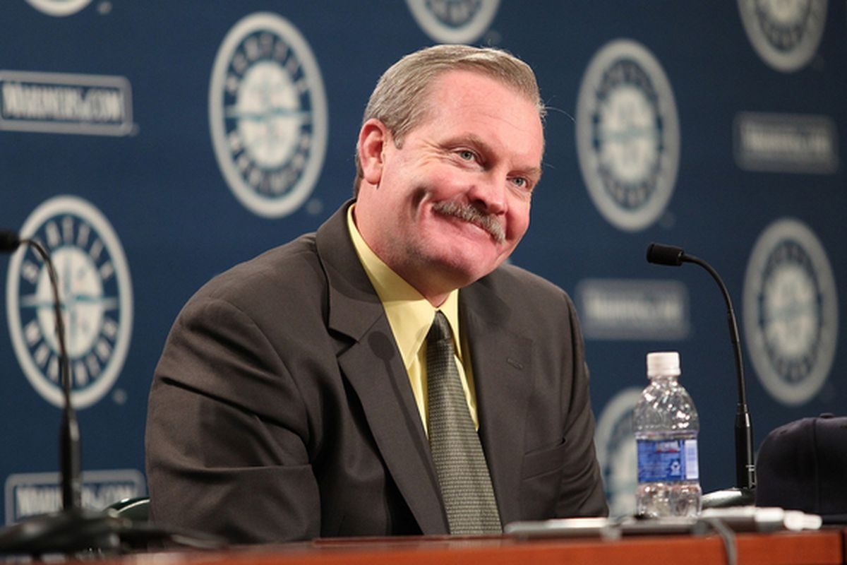 SEATTLE - OCTOBER 19:  New manager Eric Wedge of the Seattle Mariners is introduced to the media at Safeco Field on October 19 2010 in Seattle Washington. (Photo by Otto Greule Jr/Getty Images)