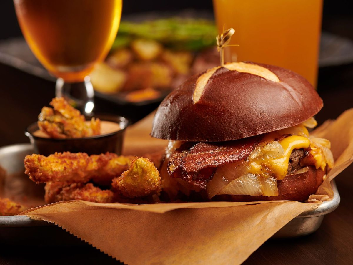 A burger and beer